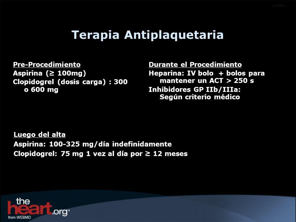 Terapia Antiplaquetaria