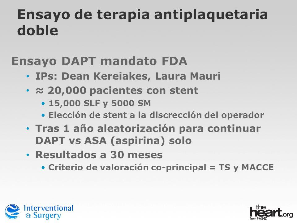 Ensayo de terapia antiplaquetaria doble
