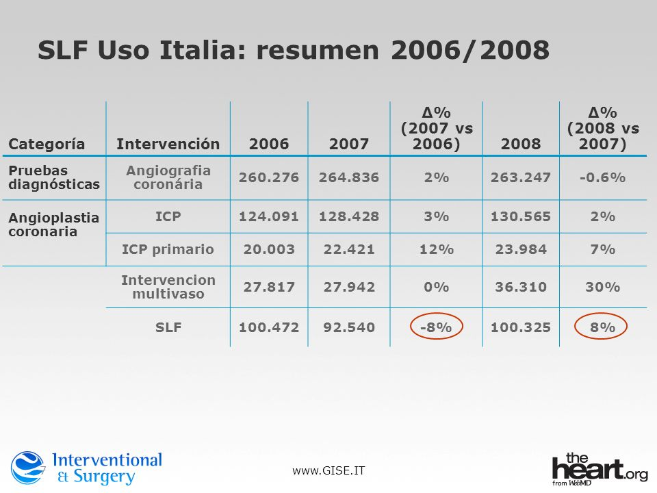 SLF Uso Italia: resumen 2006/2008