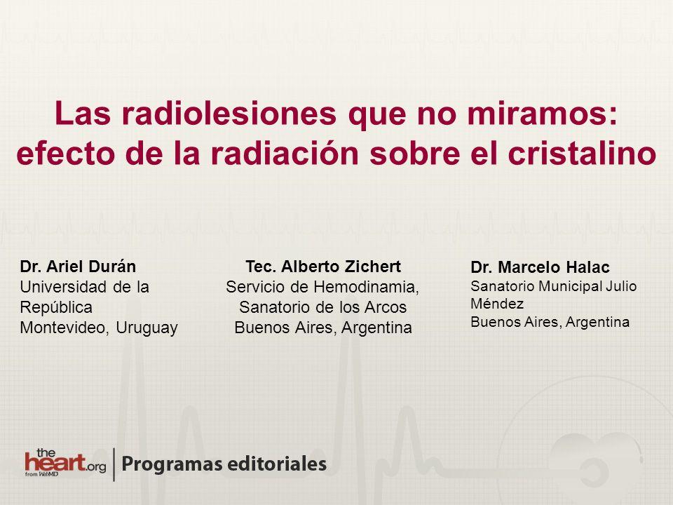 Las radiolesiones que no miramos: efecto de la radiación sobre el cristalino
