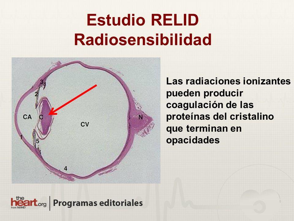 Estudio RELID Radiosensibilidad