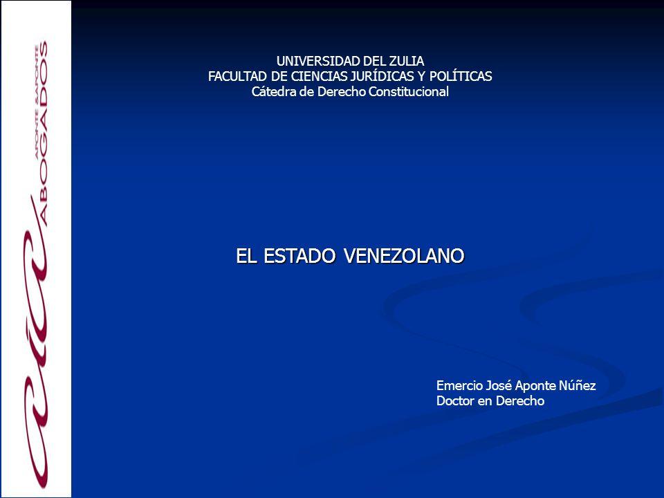 EL ESTADO VENEZOLANO UNIVERSIDAD DEL ZULIA
