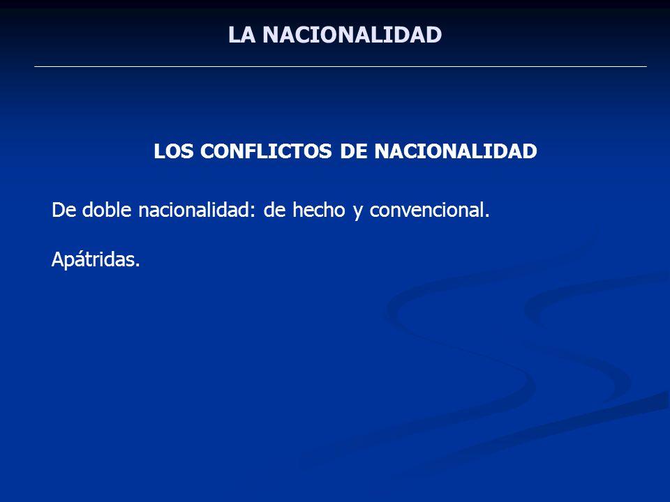 LOS CONFLICTOS DE NACIONALIDAD