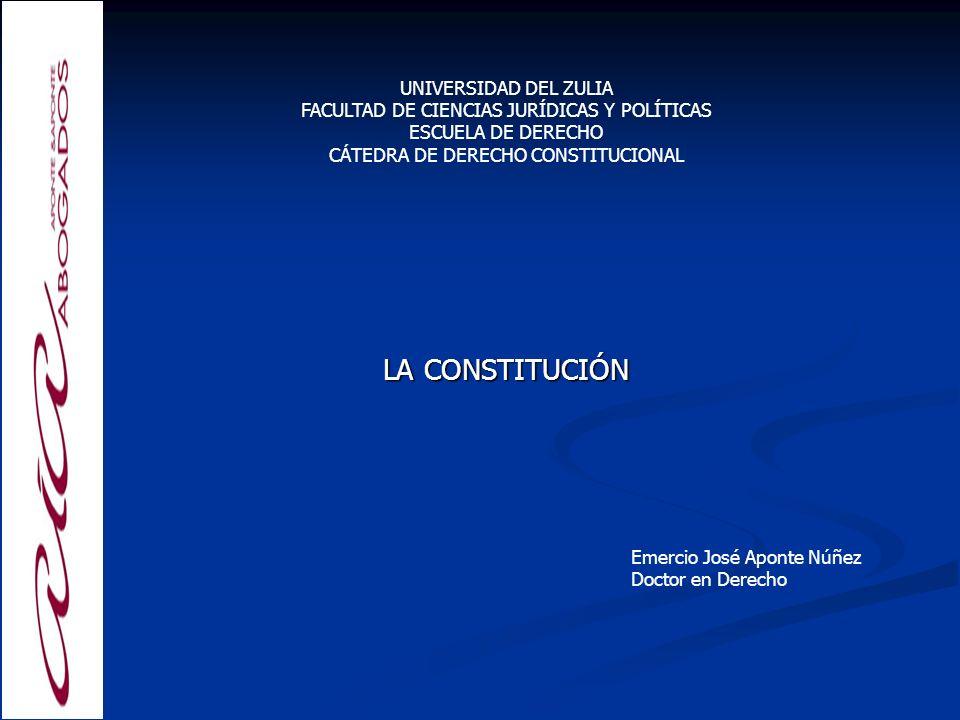 LA CONSTITUCIÓN UNIVERSIDAD DEL ZULIA