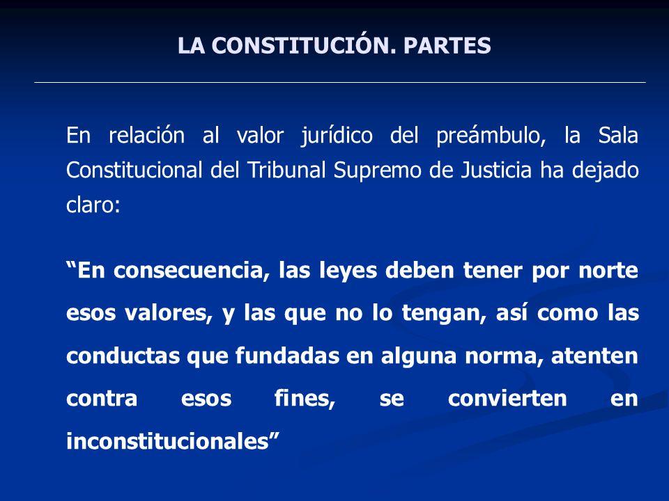 LA CONSTITUCIÓN. PARTES