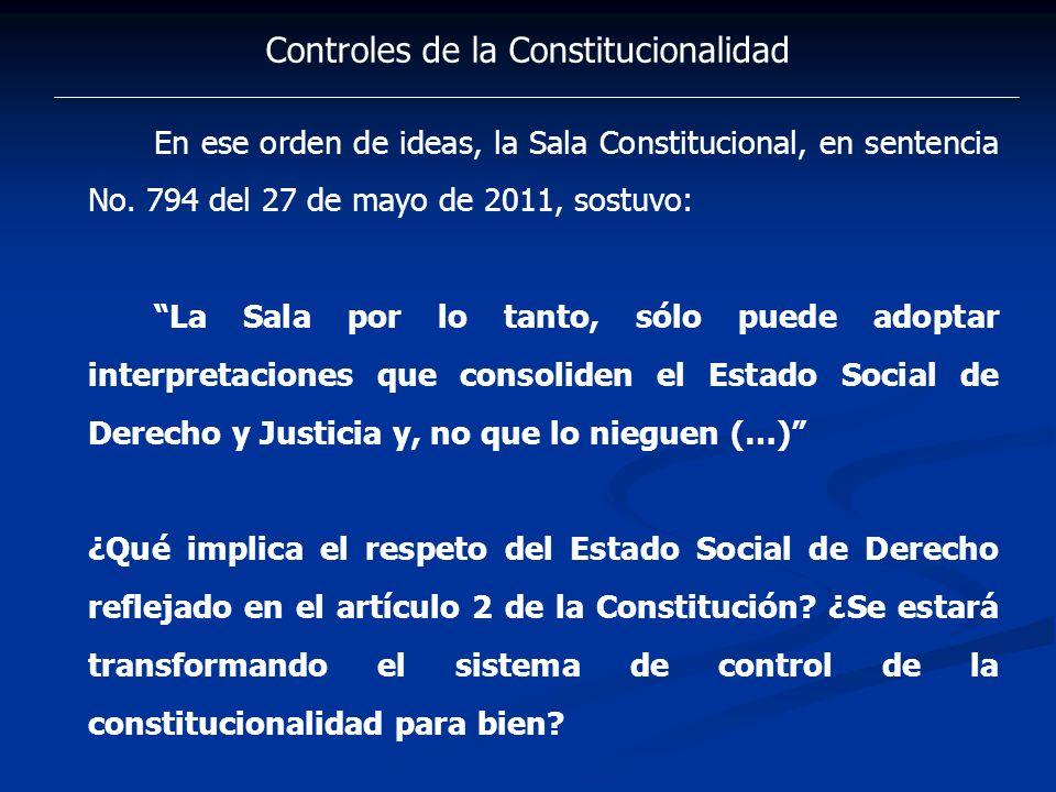 Controles de la Constitucionalidad