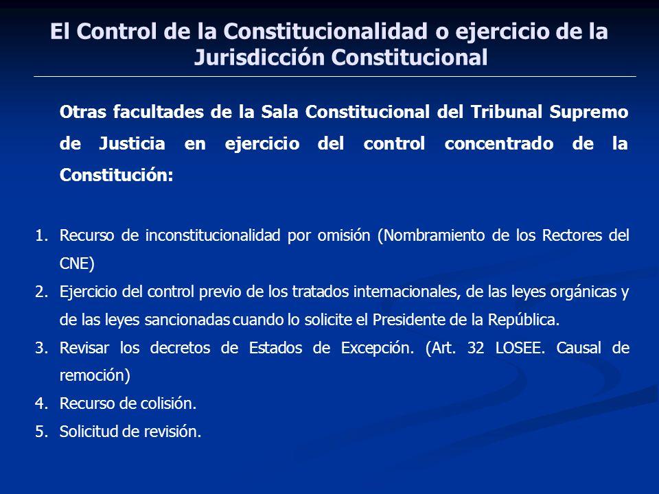 El Control de la Constitucionalidad o ejercicio de la Jurisdicción Constitucional