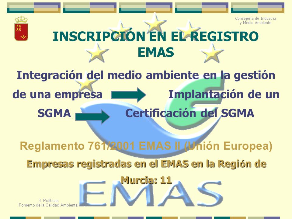 INSCRIPCIÓN EN EL REGISTRO EMAS