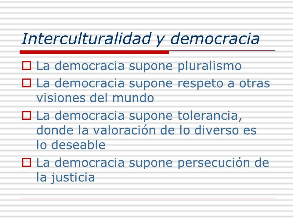 Interculturalidad y democracia