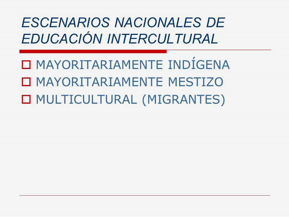 ESCENARIOS NACIONALES DE EDUCACIÓN INTERCULTURAL