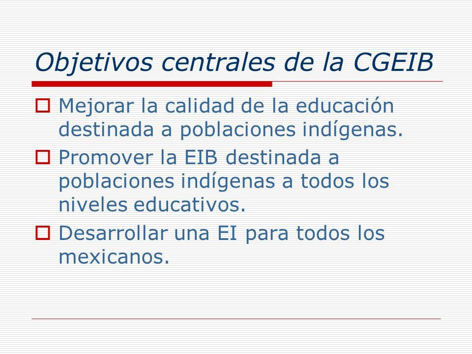 Objetivos centrales de la CGEIB