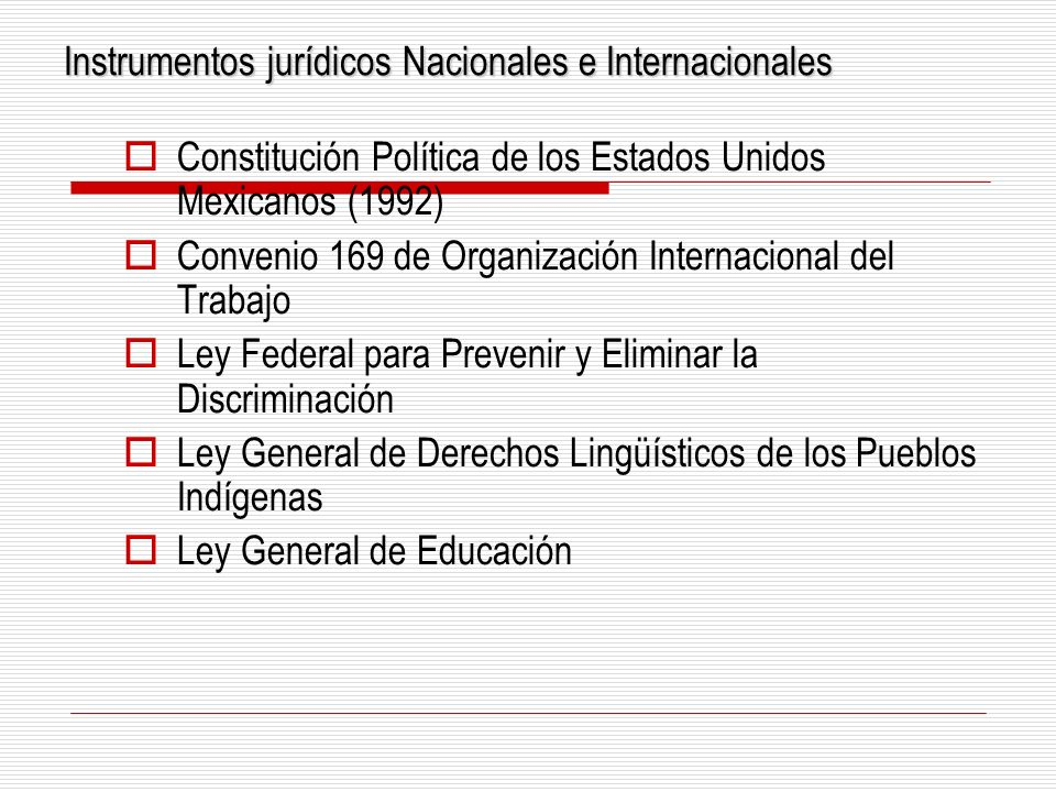 Instrumentos jurídicos Nacionales e Internacionales
