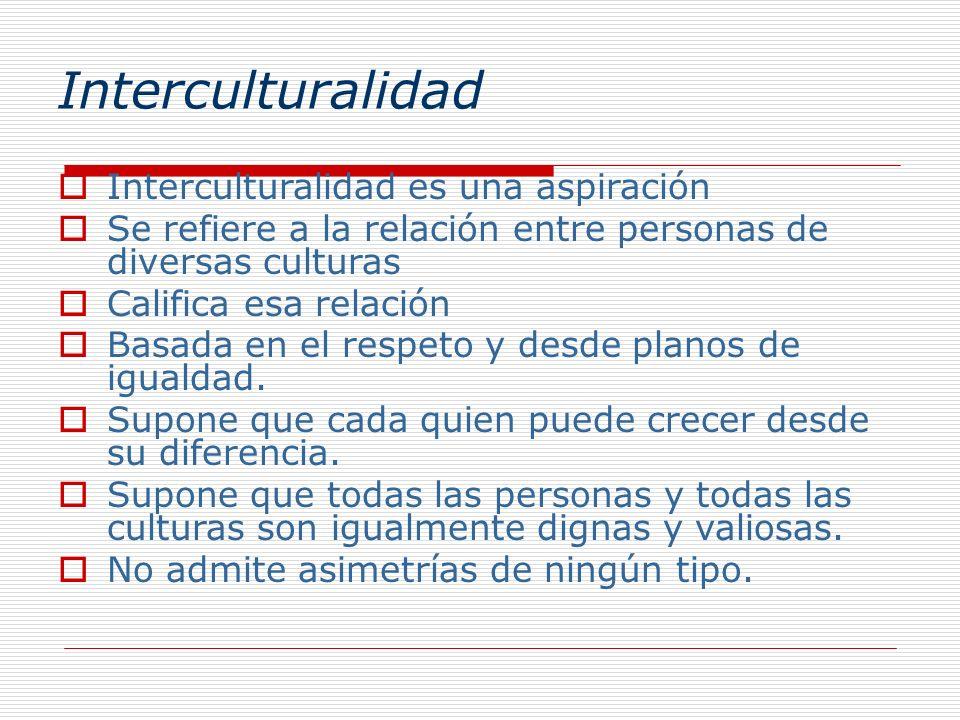 Interculturalidad Interculturalidad es una aspiración