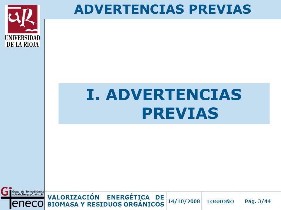 I. ADVERTENCIAS PREVIAS