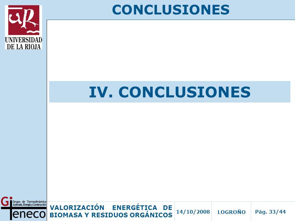 CONCLUSIONES IV. CONCLUSIONES