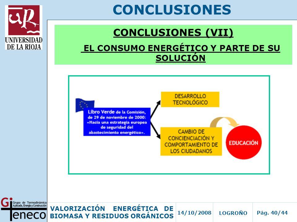 EL CONSUMO ENERGÉTICO Y PARTE DE SU SOLUCIÓN