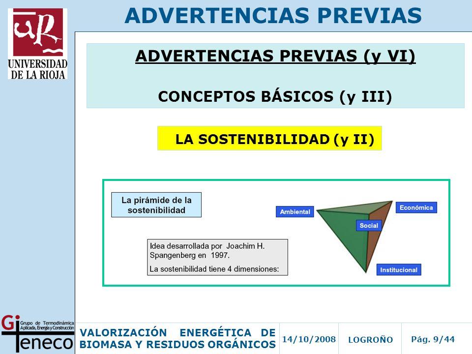 ADVERTENCIAS PREVIAS ADVERTENCIAS PREVIAS (y VI)