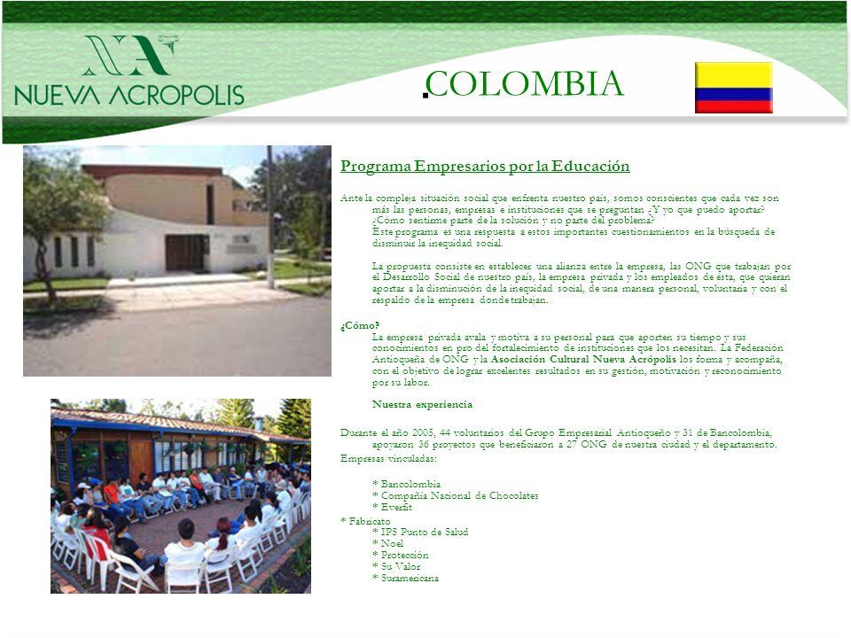 . COLOMBIA Programa Empresarios por la Educación