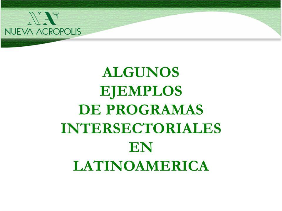DE PROGRAMAS INTERSECTORIALES