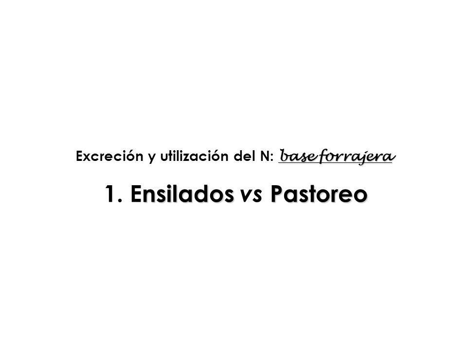 Excreción y utilización del N: base forrajera