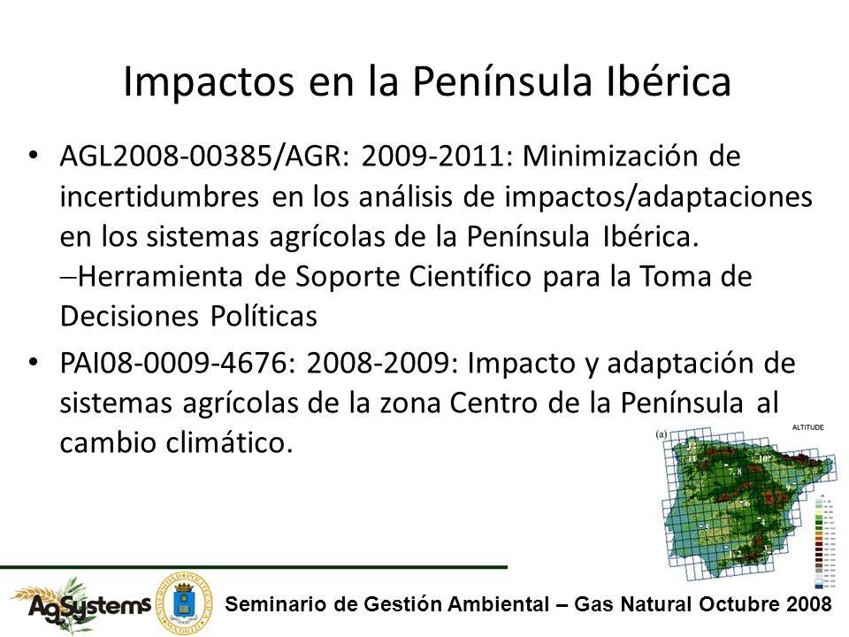 Impactos en la Península Ibérica