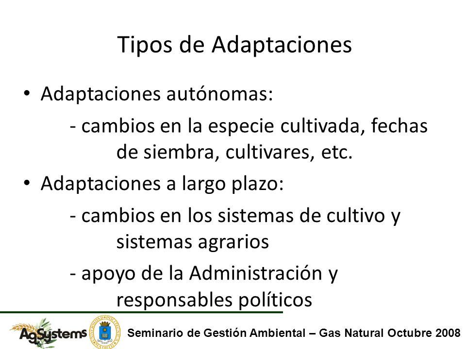 Tipos de Adaptaciones Adaptaciones autónomas: