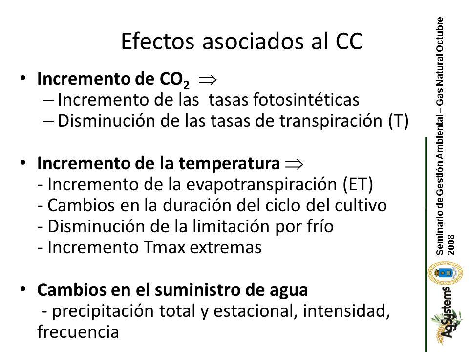 Efectos asociados al CC
