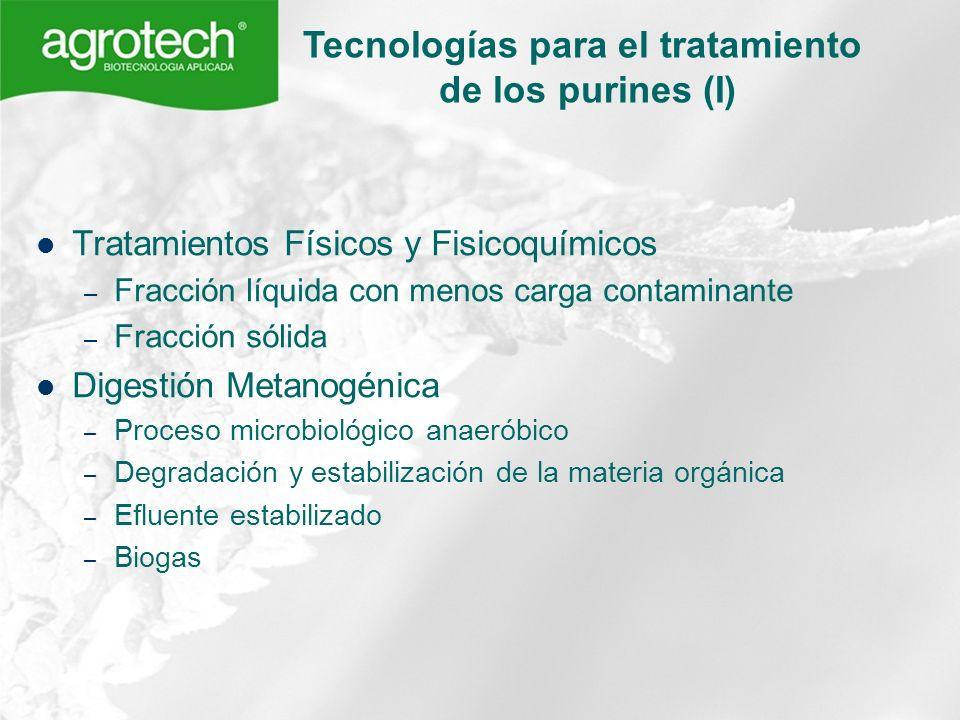 Tecnologías para el tratamiento de los purines (I)