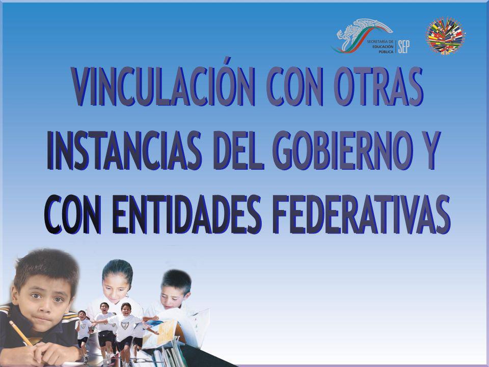 INSTANCIAS DEL GOBIERNO Y CON ENTIDADES FEDERATIVAS