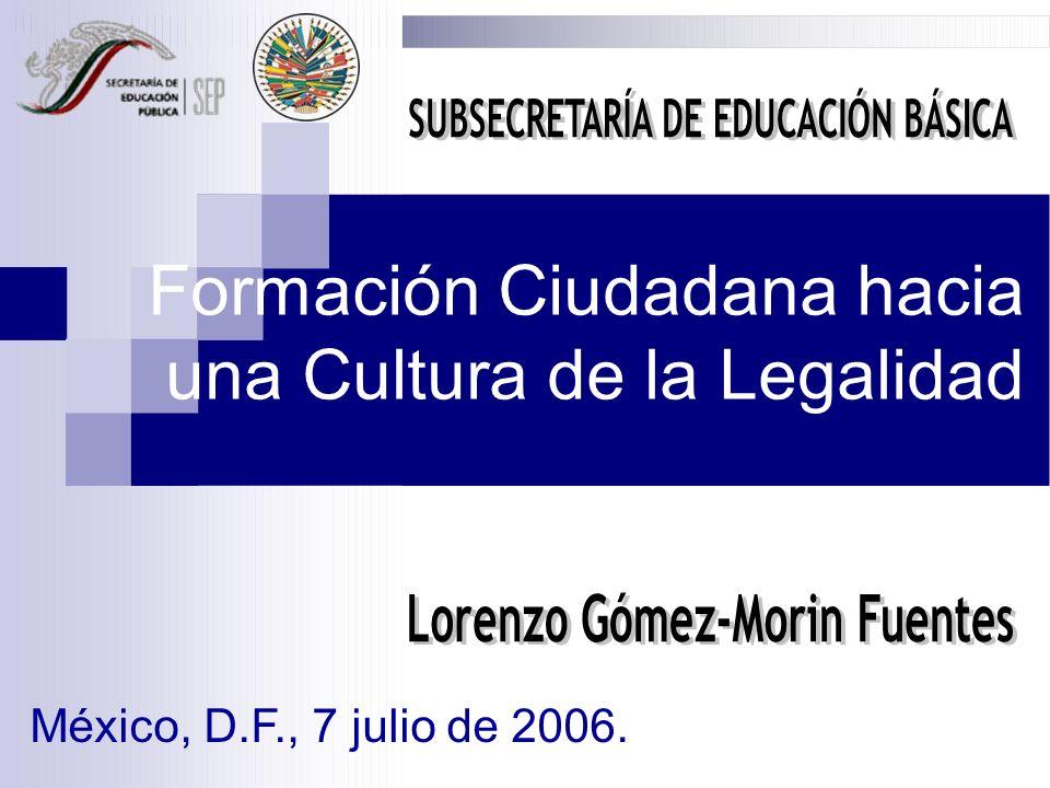 SUBSECRETARÍA DE EDUCACIÓN BÁSICA Lorenzo Gómez-Morin Fuentes