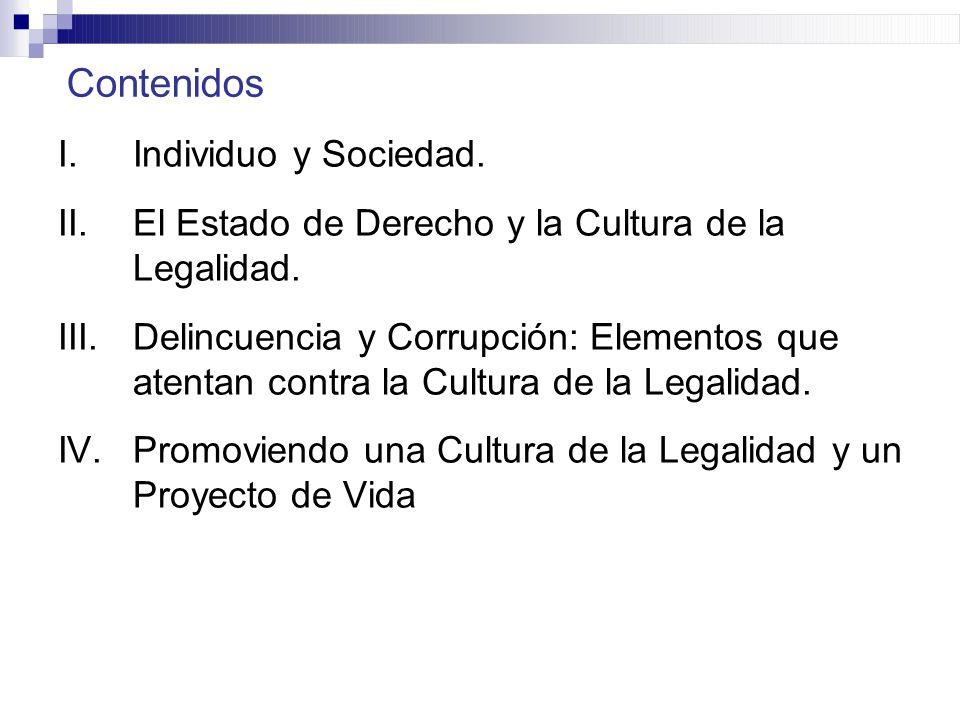 Contenidos Individuo y Sociedad.