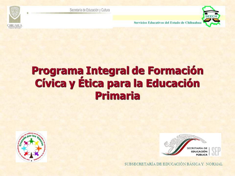 Programa Integral de Formación Cívica y Ética para la Educación Primaria