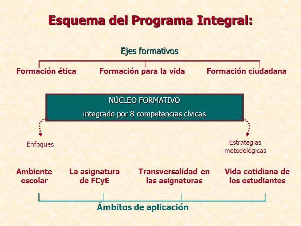 Esquema del Programa Integral: