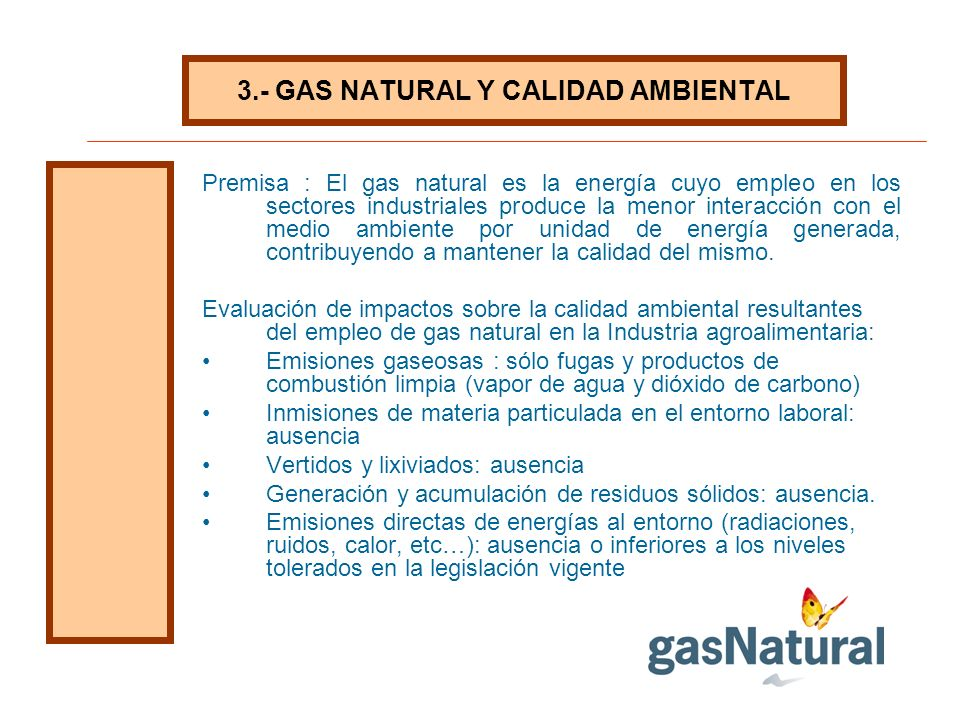 3.- GAS NATURAL Y CALIDAD AMBIENTAL