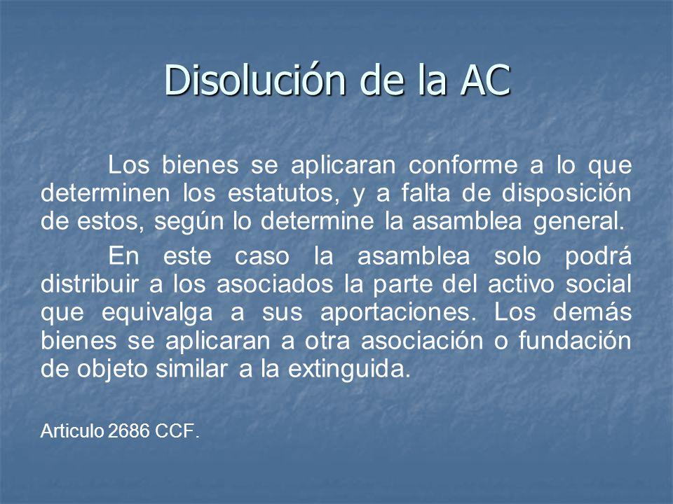 Disolución de la AC