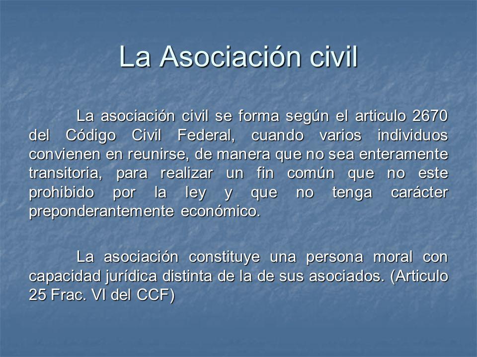 La Asociación civil
