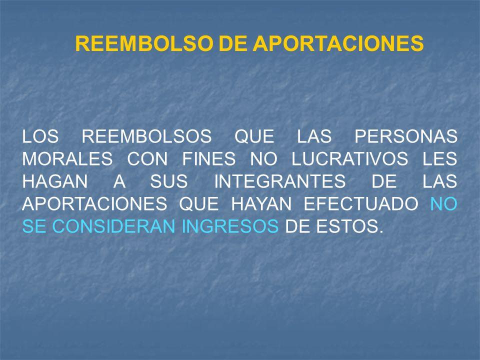 REEMBOLSO DE APORTACIONES