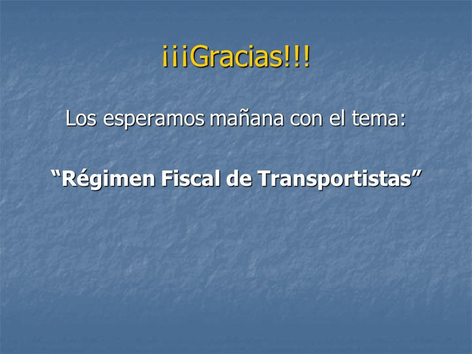 Régimen Fiscal de Transportistas
