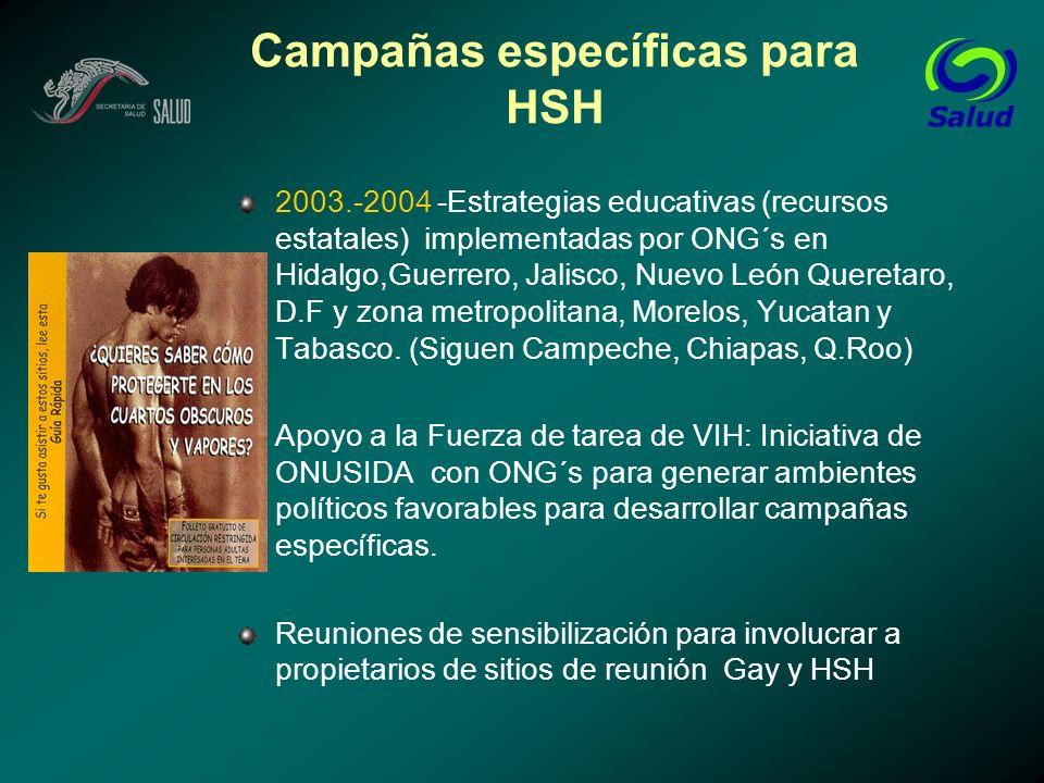 Campañas específicas para HSH