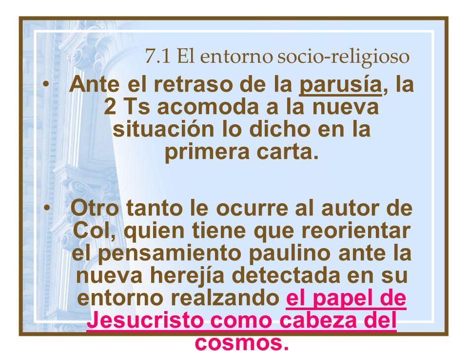 7.1 El entorno socio-religioso