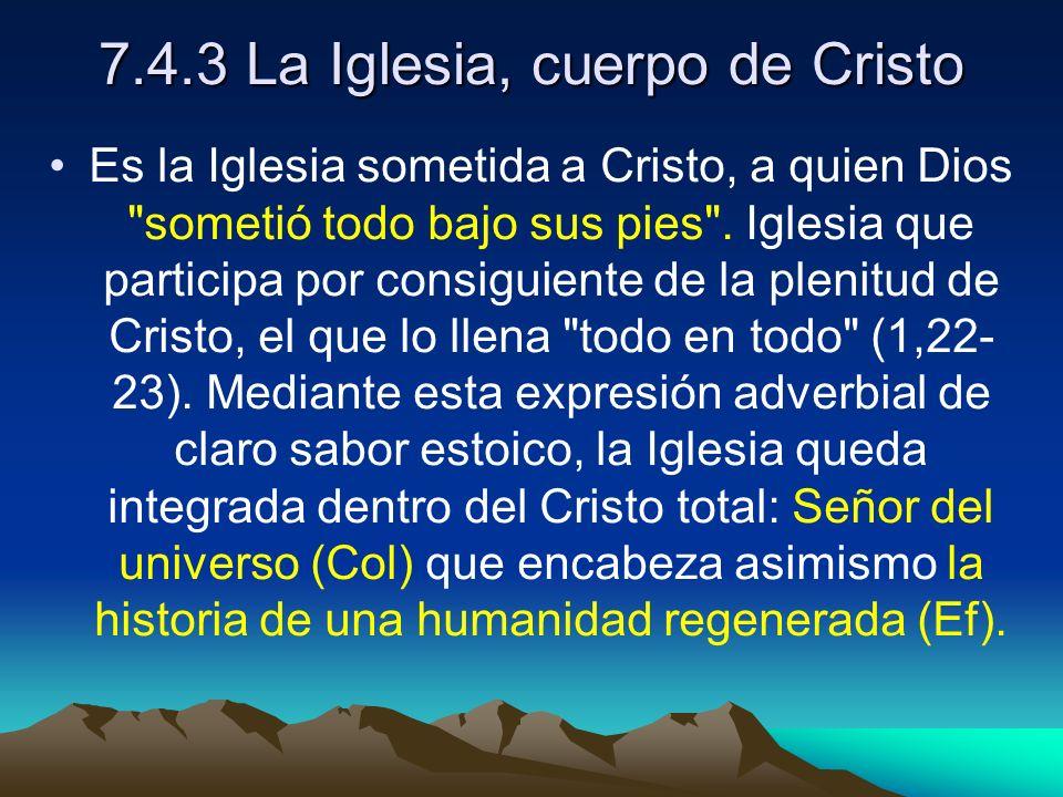 7.4.3 La Iglesia, cuerpo de Cristo
