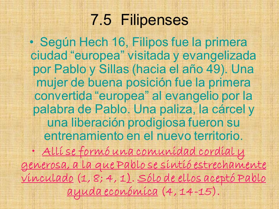 7.5 Filipenses
