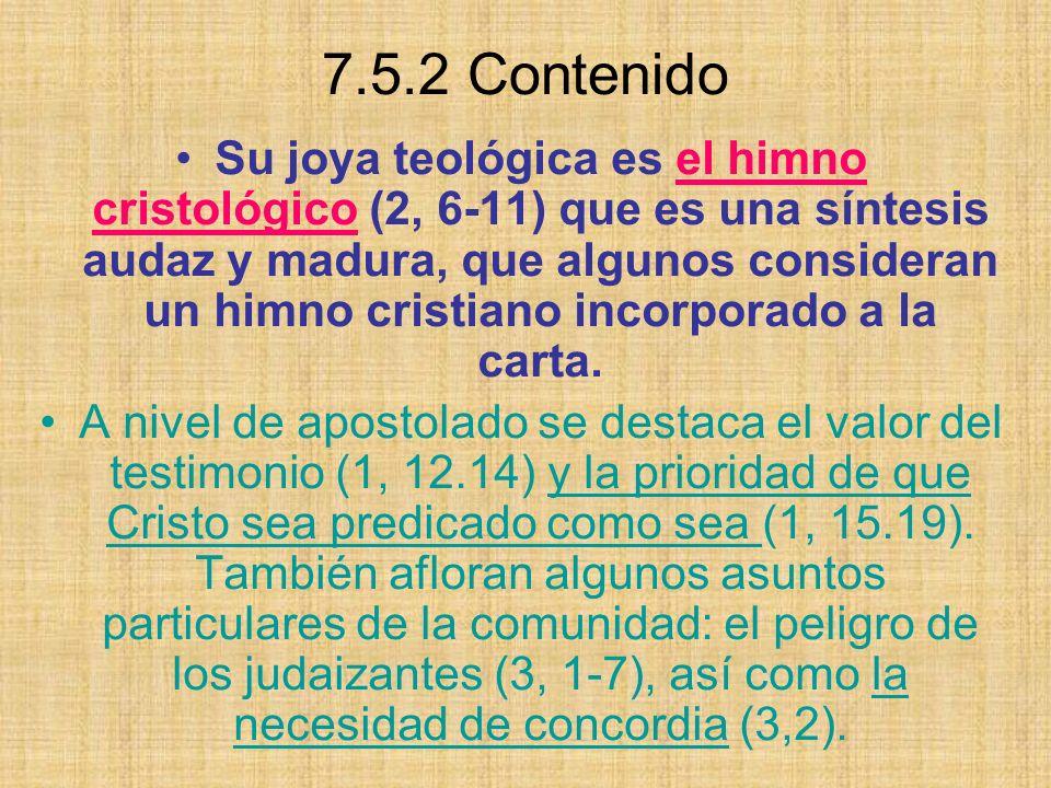 7.5.2 Contenido