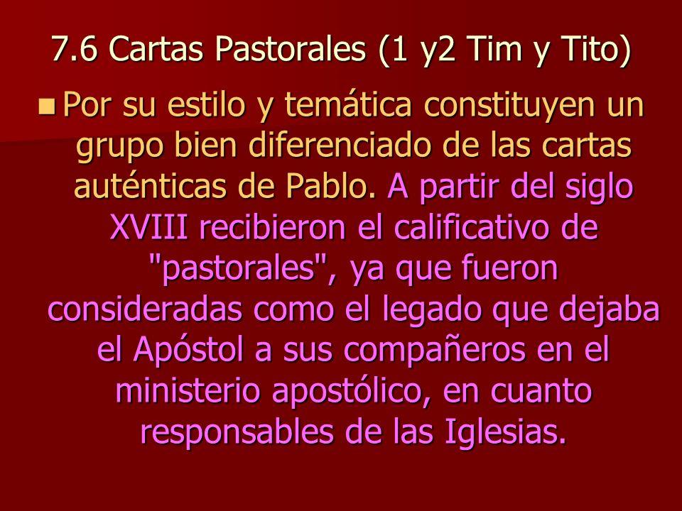 7.6 Cartas Pastorales (1 y2 Tim y Tito)