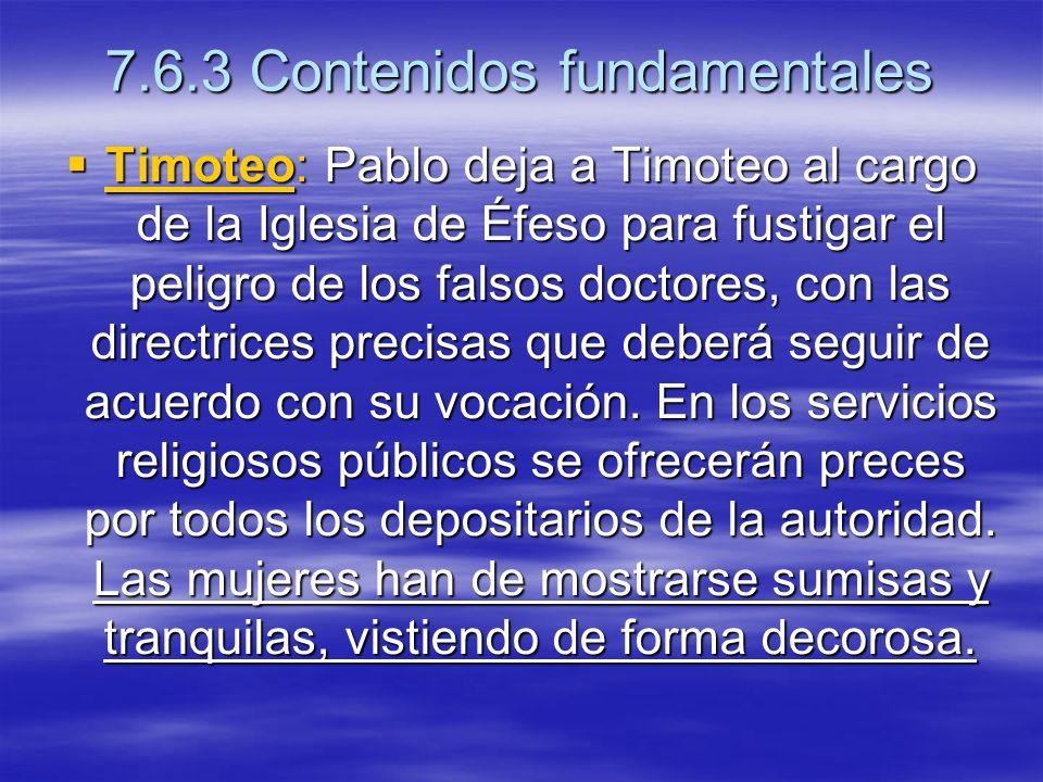 7.6.3 Contenidos fundamentales