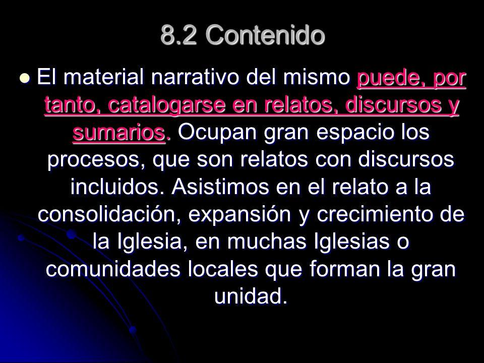 8.2 Contenido