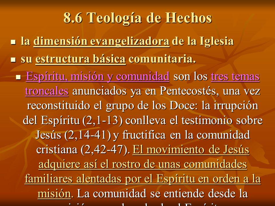 8.6 Teología de Hechos la dimensión evangelizadora de la Iglesia