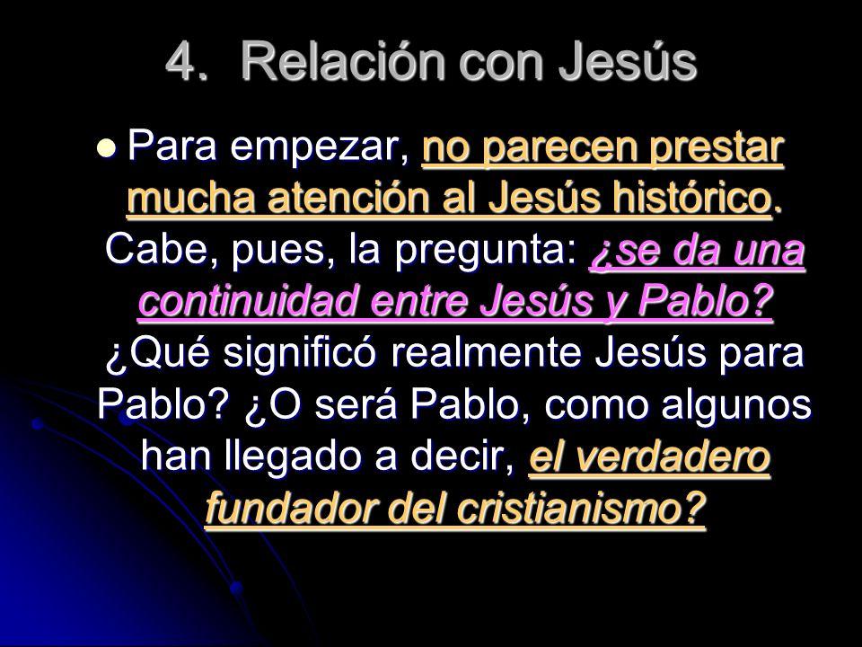 4. Relación con Jesús