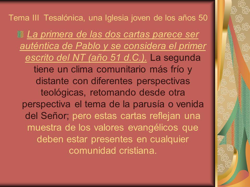Tema III Tesalónica, una Iglesia joven de los años 50