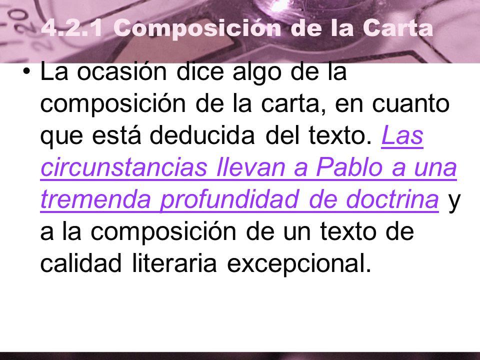 4.2.1 Composición de la Carta